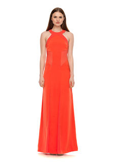 LOVE AFFAIR Satin Panel Gown