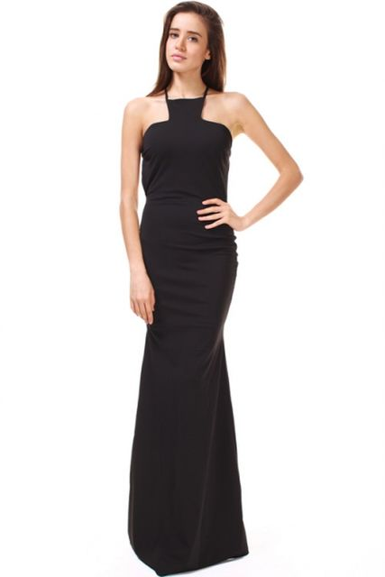 CQ Square Neck Criss-Cross Gown