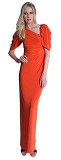PIZZUTO Prism Gown Orange