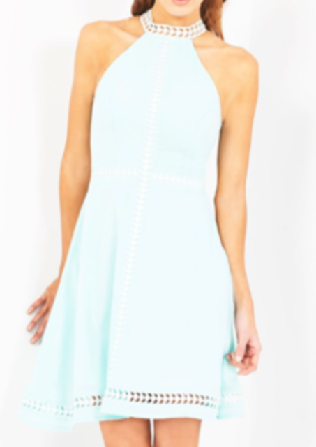 LUMIER Introvert Extrovert Dress Mint