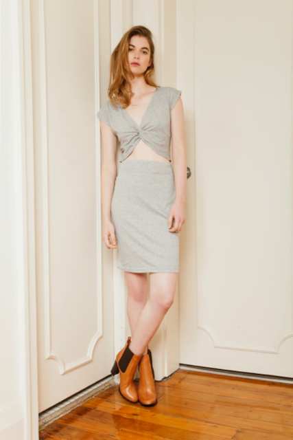 INCYDA New Yorker Dress Grey