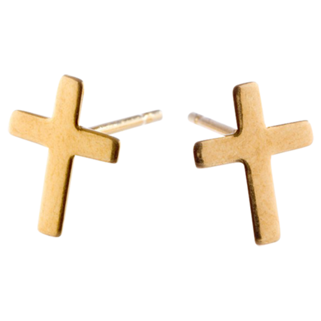 EARRINGS Cross Gold