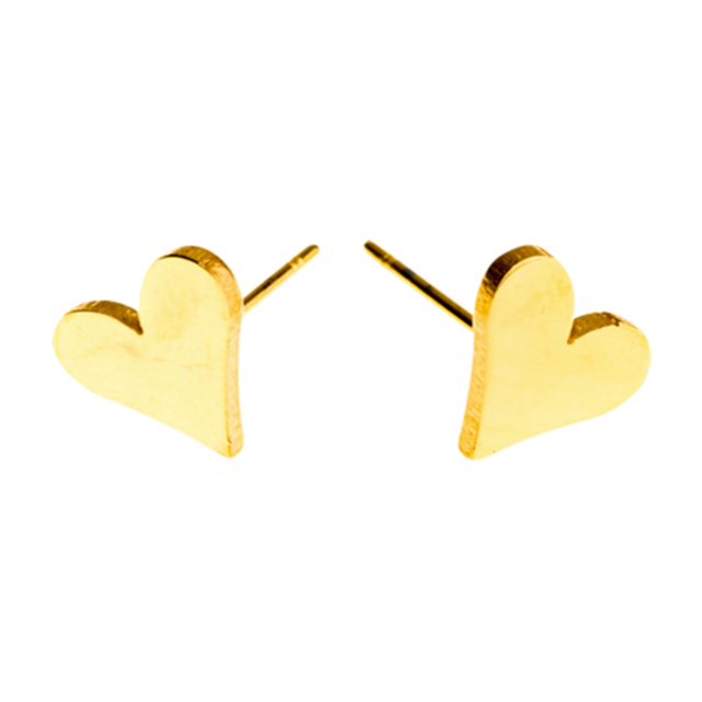 EARRINGS Heart Steel Gold