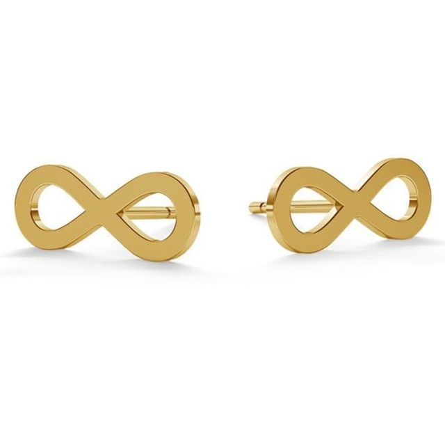 EARRINGS Infinity Loop Gold