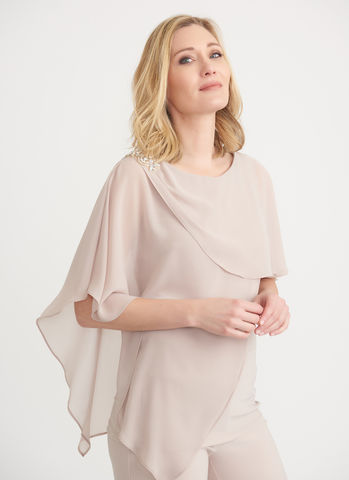 Joseph Ribkoff Layered Top w Embellished Shoulder