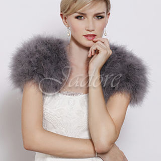 JADORE Feathered Bolero Silver