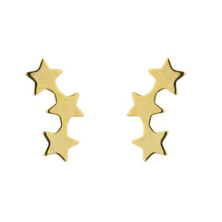STUD EARRINGS 3 Star Gold