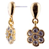 STUD EARRINGS Daisy Drop CZ Gold