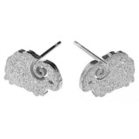 STUD EARRINGS Sheep Steel