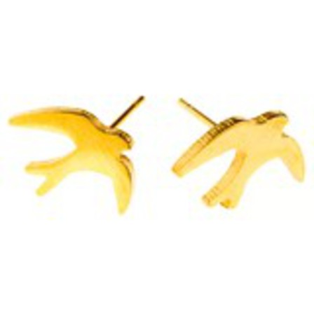 STUD EARRINGS Swallow Gold