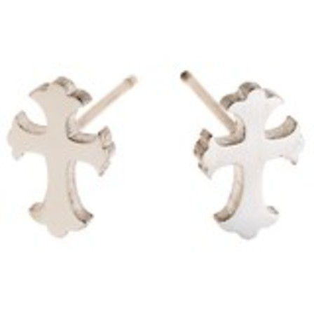 STUD EARRINGS Gothic Cross Steel SSS