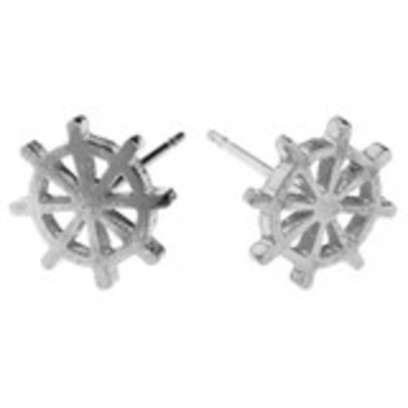 STUD EARRINGS Ships Wheel Steel SSS