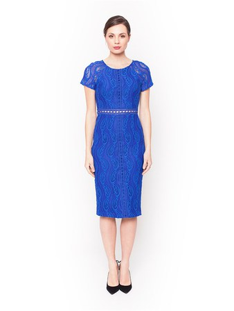 PINK RUBY Grace Fitted Dress Cobalt Blue