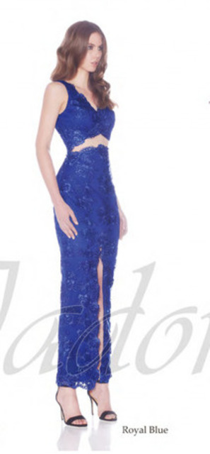 JADORE J7018 Lace Two Piece Cobalt