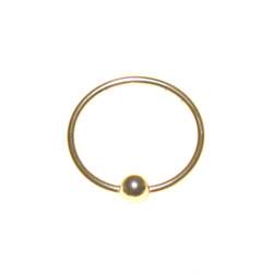 Nose Ring Gold with Ball 20g
