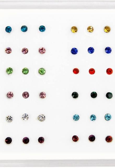 Nose Stud 925 Sterling Silver 20g (0.81mm) Coloured
