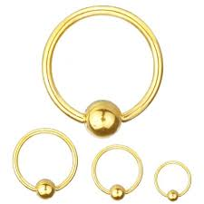 Ball Closure Ring Gold PVD 16g (1.2mm) x 8mm-12mm