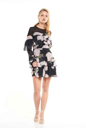 TALULAH Black Floral Dress