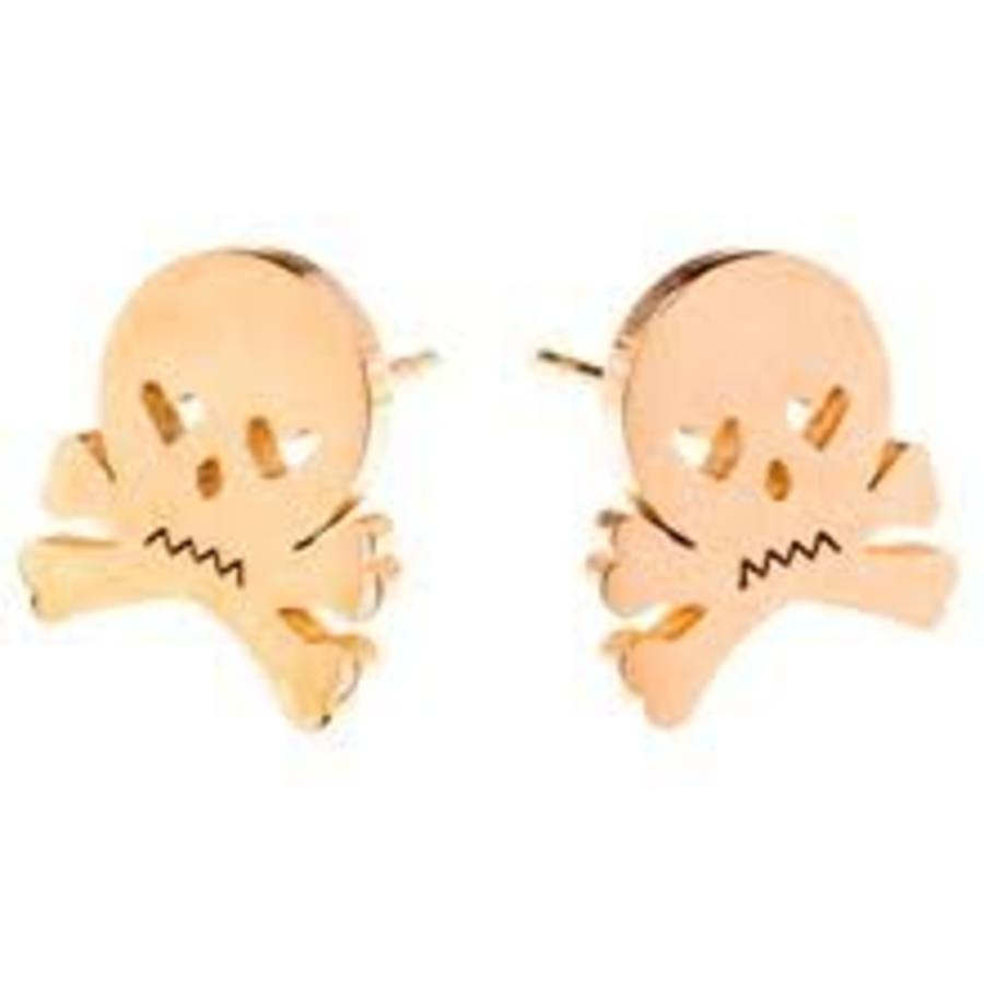 EARRINGS Skull & Crossbones Gold