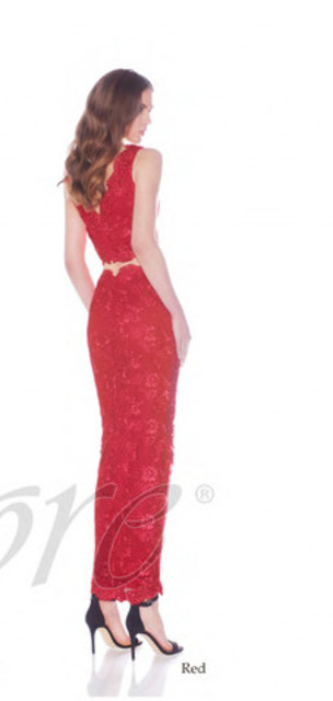 JADORE J7018 Lace Two Piece Red