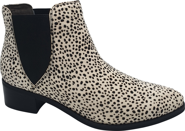 Black & White Pony Ankle Boots