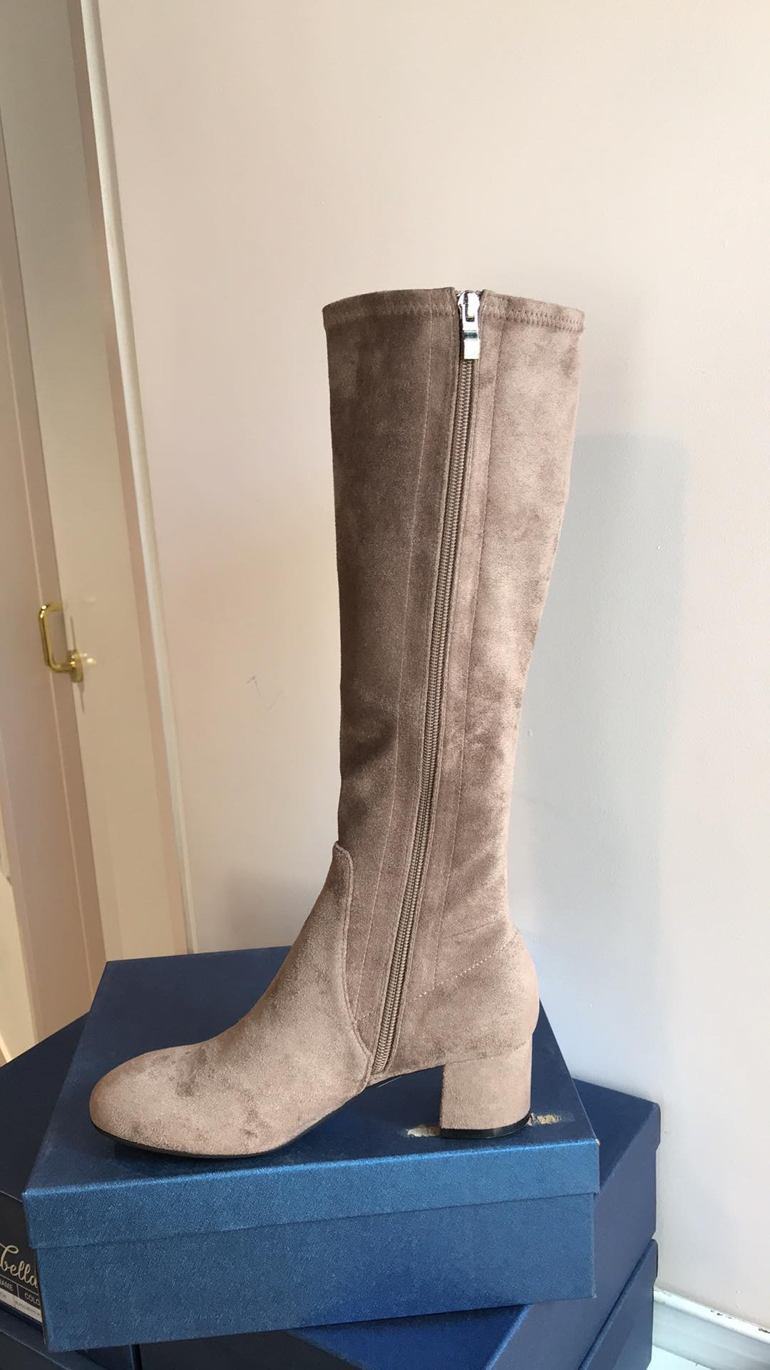 Long Taupe Boots